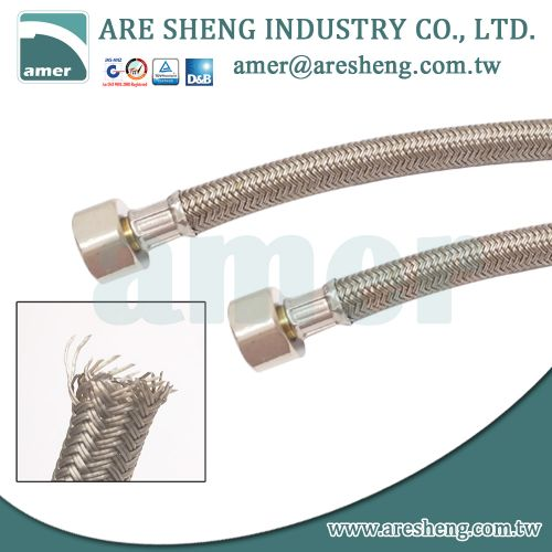 Polymer braided tube, faucet water supply line