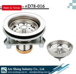 Kitchen sink strainer-duo cup-3 bolt triangle flange
