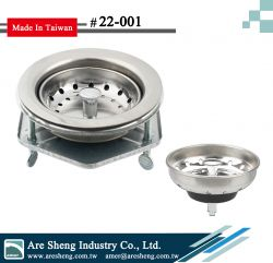 Kitchen sink strainer-duo cup-3 bolt-hexagon flange