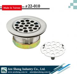 S.S. bar sink strainer- flat grid strainer