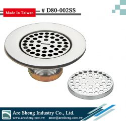 4-1/2 inch S.S. flat top shower drain