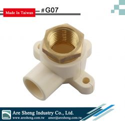 G07-Genova-1pc design drop ear elbow-slip x brass fip