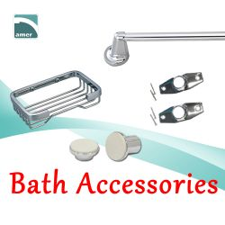 Bathroom accessories like soap dish, paper holder, tub spout– Are Sheng