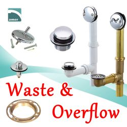 Bathtub waste and overflow - drainage kits–Are Sheng