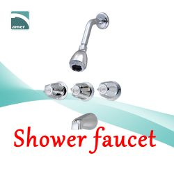 Shower faucet and valve in different styles with 2 handle or 3 handle, with or without diverter and spout from Are Sheng