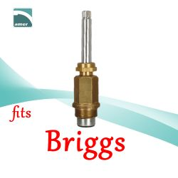 Fits Briggs replacement plastic or metal stem and cartridge –Are Sheng